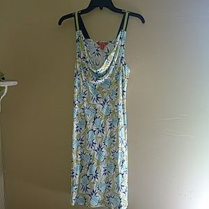 Tommy Bahama pineapple sundress Rayon small